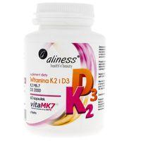 Aliness Witamina K2 MK-7 100 µg z Natto + D3 - 60 kapsułek