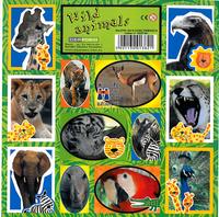 Naklejki Dzikie Zwierzęta 16x16