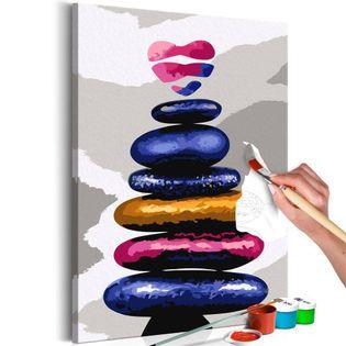 Obraz do samodzielnego malowania - Kolorowe kamyczki