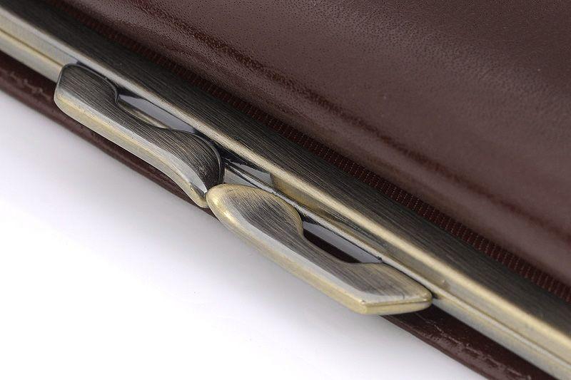 Skórzany portfel damski Orsatti D-02B w kolorze brązowym zdjęcie 3