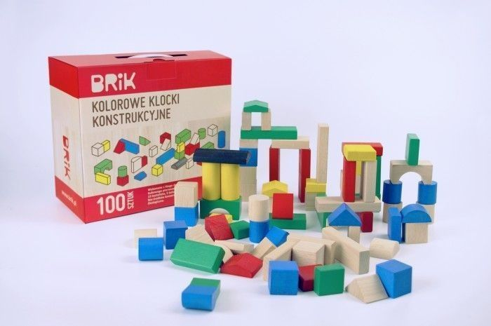 Klocki konstrukcyjne Brik 100 sztuk kolorowe na Arena.pl