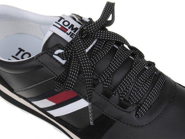 82a6043a7d0a Tommy Hilfiger Retro Runner Sneaker Black EM0EM00165-990 - 43 • Arena.pl