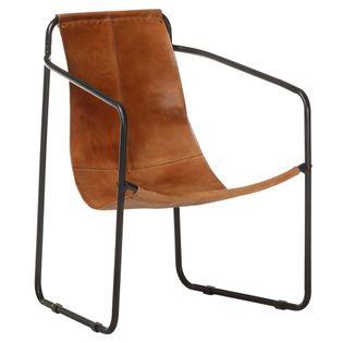 Lumarko Fotel wypoczynkowy, brązowy, skóra naturalna!