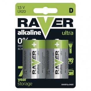 Bateria alkaliczna Raver Ultra Alkaline D (LR20) blister 2
