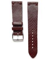 Pasek do zegarka 22mm ciemny brąz jaszczurka   - polskie - Lamato