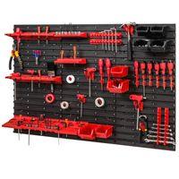 Tablica ścianka narzędziowa do garażu + 36 uchwytów, 5 półek + 6 kuwet PRO-MIX57