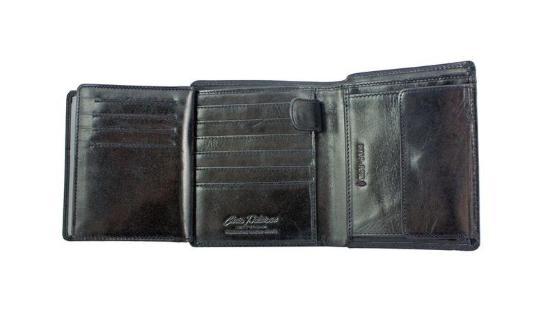 Skórzany portfel męski Peterson, RFID, czarny zdjęcie 5