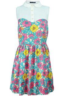 Sukienka retro, szyfonowy top - 42 / XL