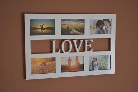 Multirama drewniana ramka na zdjęcia z napisem  Love 6 zdjęć