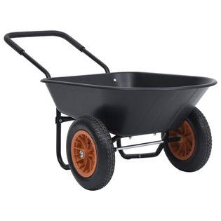 Taczka czarno-pomarańczowa 78 L 100 kg VidaXL