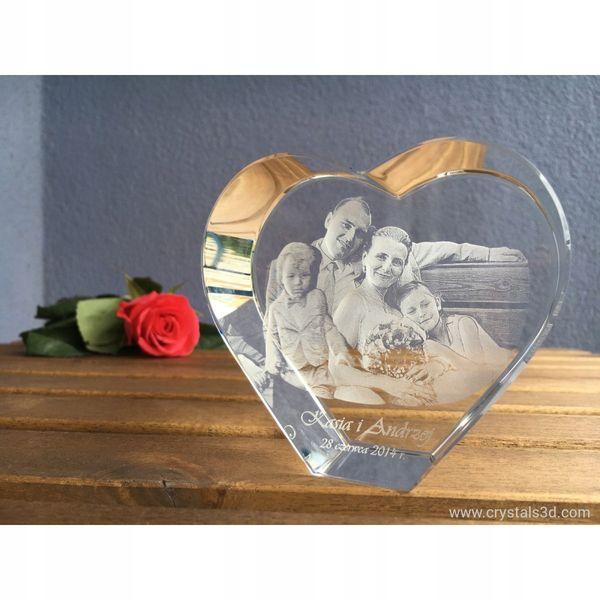 Kryształowe serce 3D-wyjątkowy prezent, Walentynki zdjęcie 1