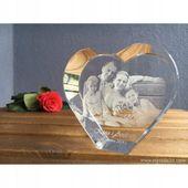 Kryształowe serce 3D-wyjątkowy prezent, Walentynki