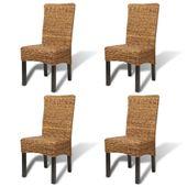 Krzesła Stołowe, 4 Szt., Abaka I Lite Drewno Mango