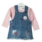 Komplet sukienka ogrodniczka jeansowa i bluzeczka M&Co 86