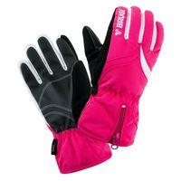 Dziecięce rękawice narciarskie Brugi 1ZFU zimowe snowboardowe różowo-czarno-białe rozmiar 42