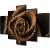 Obraz Na Ścianę 150X105 Brązowa Róża Płatki Róży
