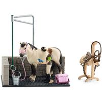 Schleich Horse Club - Myjnia dla konia z figurkami i akcesoriami 42104
