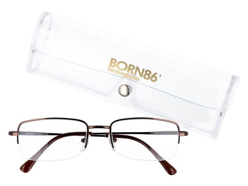 Prostokątne okulary do czytania plusy +1.00 zdjęcie 1