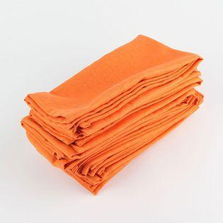 Serwetki - Bawełniane - Zestaw 12 Szt Pomarańczowy