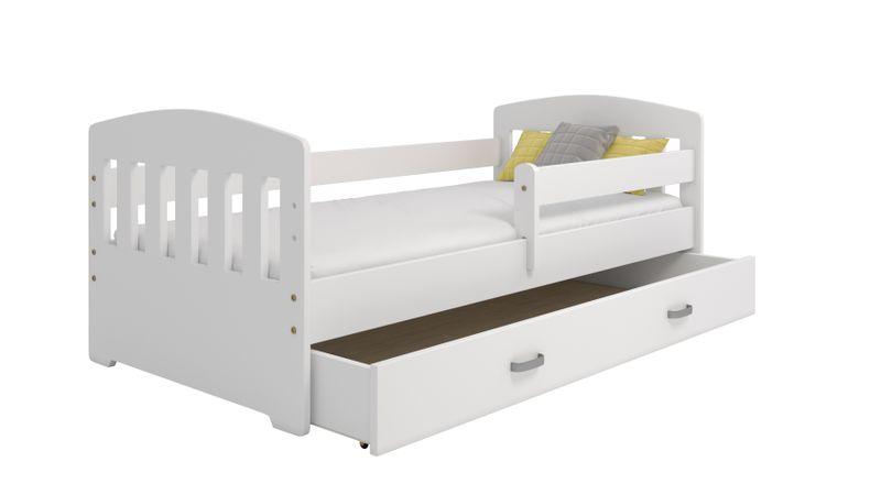 łóżko Dziecięce 160x80 Dla Dzieci Białe B6 Z Szufladą