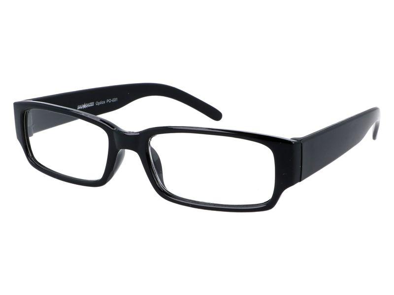 Czarne okulary zastępcze do czytania plusy +1.00 zdjęcie 2