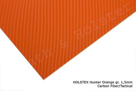 HOLSTEX Carbon Hunter Orange - 200x300mm gr. 1,5mm