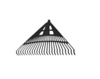 12259 Grabie plastikowe do liści 24-zęby nieoprawne, typ kanadyjski, 61cm czarne