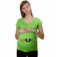 Koszulka ciążowa LOVE dla przyszłych Mam t-shirt