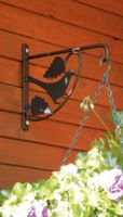 Ozdobny uchwyt wieszak na doniczki kwietnik ptak do ogrodu