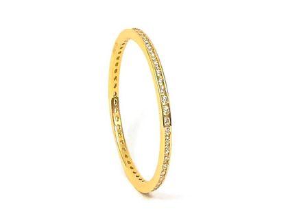 Złoty Pierścionek Z Cyrkoniami Rozmiar pierścionka - 11/16,00, Materiał - Złoto żółte, Kamień - Cyrkonia, Próba - 585