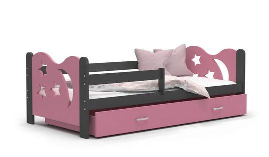 Łóżko dla dzieci MIKOŁAJ COLOR 160x80  szuflada + materac