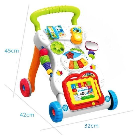 Jeździk chodzik pchacz edukacyjny 3w1 interaktywny Y15 zdjęcie 5
