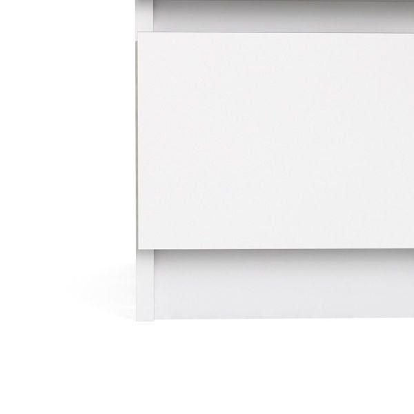 Komoda wąska 3S Naia biała wysoki połysk zdjęcie 8