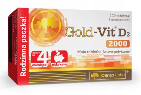 Gold-Vit D3 2000 120 tabletek witaminy Olimp
