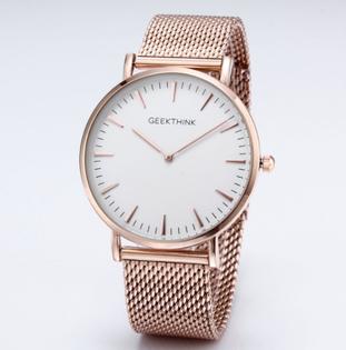 Zegarek premium GeekThink na bransolecie white & rose gold