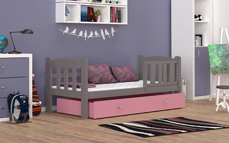 Łóżko dla dzieci TEDI COLOR 160x70  szuflada + materac na Arena.pl