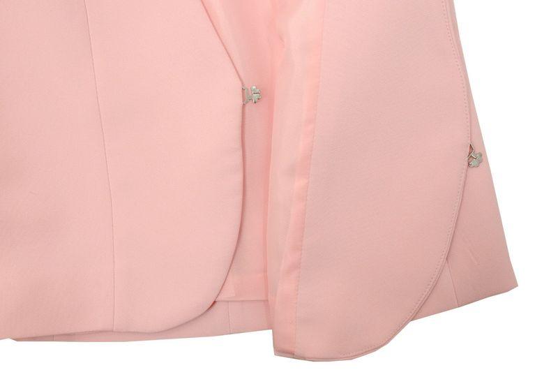 c5f27068576fb Damski żakiet do sukienki - POLSKI PRODUCENT - jasno różowy Rozmiar - 48  zdjęcie 4
