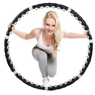 Hula hop z masażerem 85 cm czarne