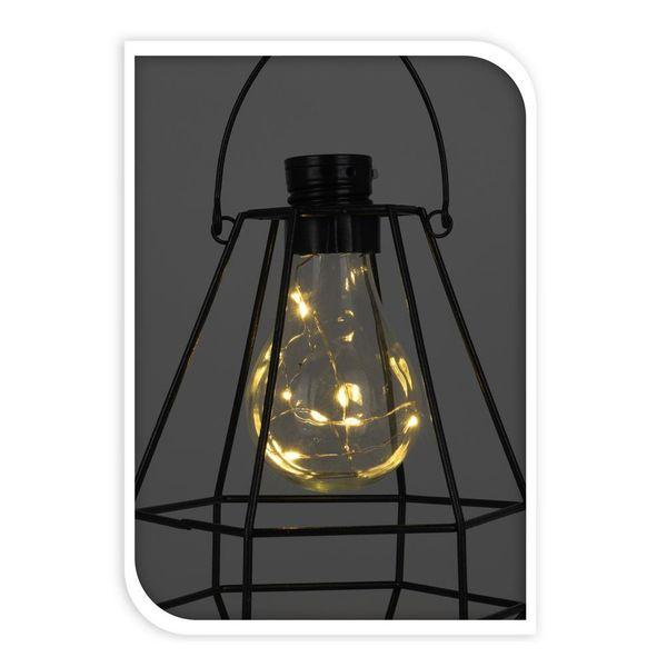 Lampa solarna ogrodowa LED wisząca ekologiczna zdjęcie 3