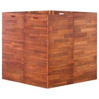Podwyższona donica z drewna akacjowego, 100 x 100 x 100 cm