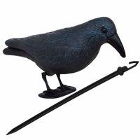 Odstraszacz ptaków 11x39x18,5cm stojący kruk granatowo-czarny