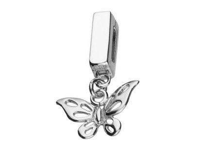 Rodowany srebrny wiszący charms pandora koralik reflexions motyl motylek butterfly srebro 925 AP9177MRH