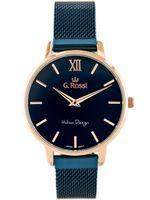 ZEGAREK DAMSKI GINO ROSSI - 12177B  navy blue/rose gold Niebieski | Różowe złoto