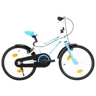 Rower dla dzieci, 18 cali, niebiesko-biały