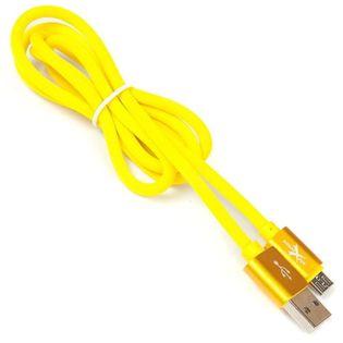Kabel microUSB silikonowy ExtremeStyle (1 m, żółty)