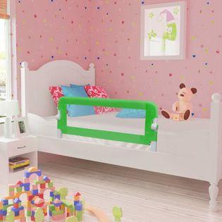 Barierki do łóżeczka dziecięcego 2 szt. zielone 102x42cm VidaXL