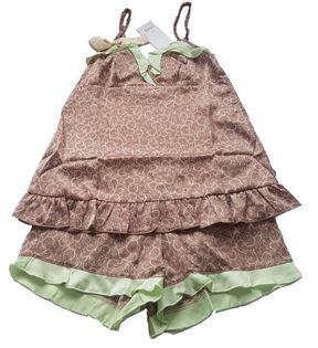 Oodji damska piżama 2 częściowa brązowa r. L