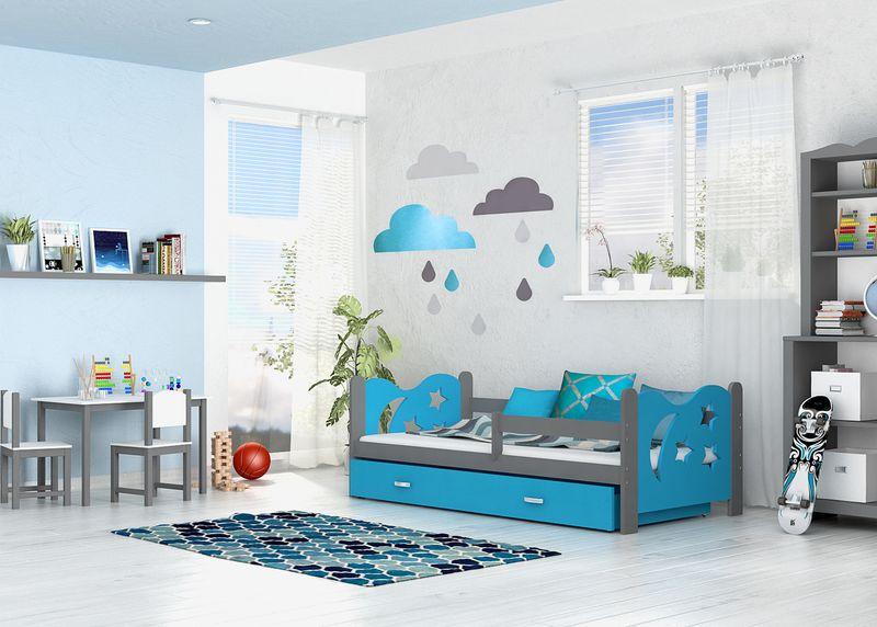 Łóżko dla dzieci MIKOŁAJ COLOR 160x80  szuflada + materac zdjęcie 6