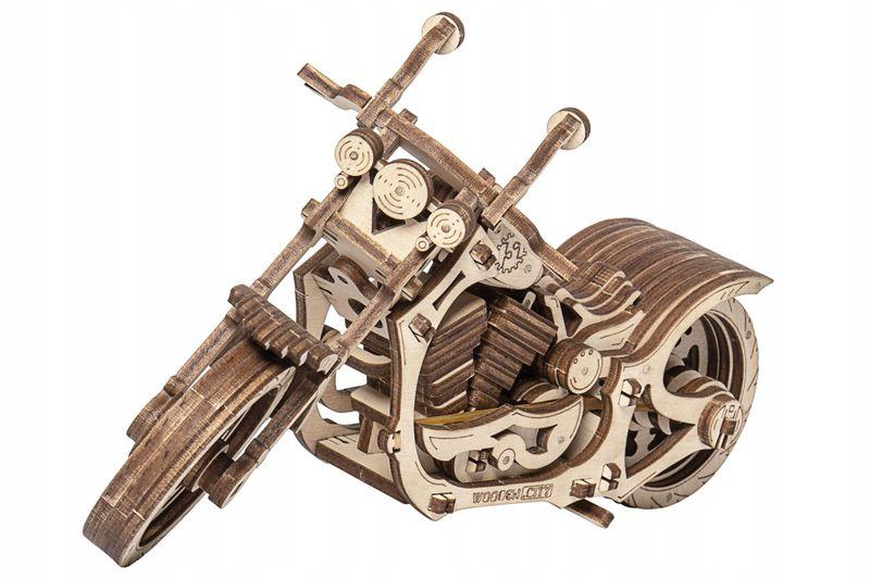 Motocykl Mechaniczne Puzzle 3D Drewniane Wooden City zdjęcie 2