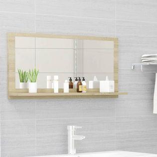Lumarko Lustro łazienkowe, dąb sonoma, 80x10,5x37 cm, płyta wiórowa